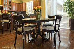 Interior Design breakfast nook, kitchen window blinds