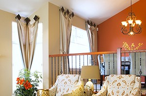 window curtains, interior design living room