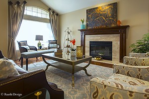 Interior design of a living room window