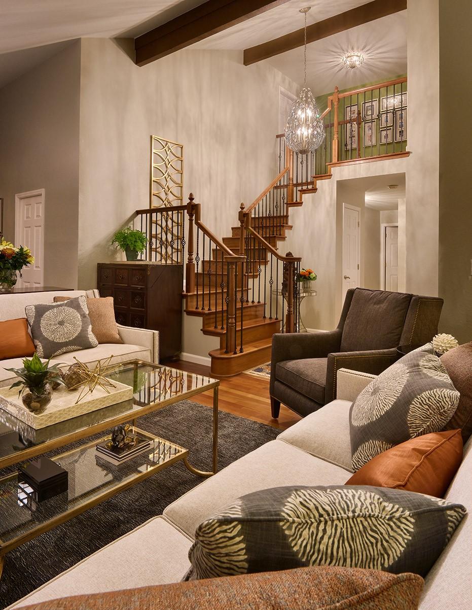 Two Story Living Room Interior Design